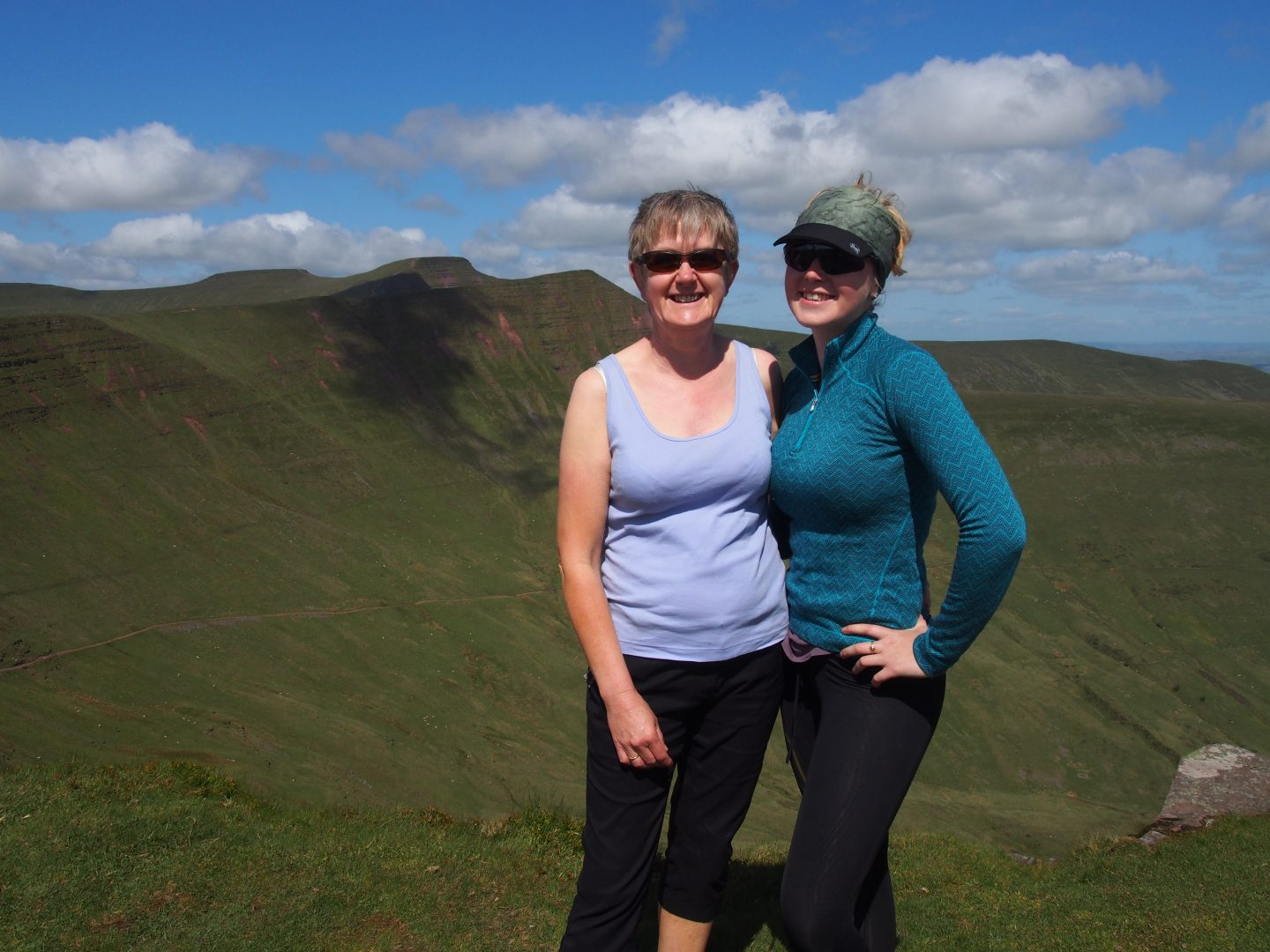 Outdoor Women: Me and Mum on Fan Y Big looking towards Pen Y Fan