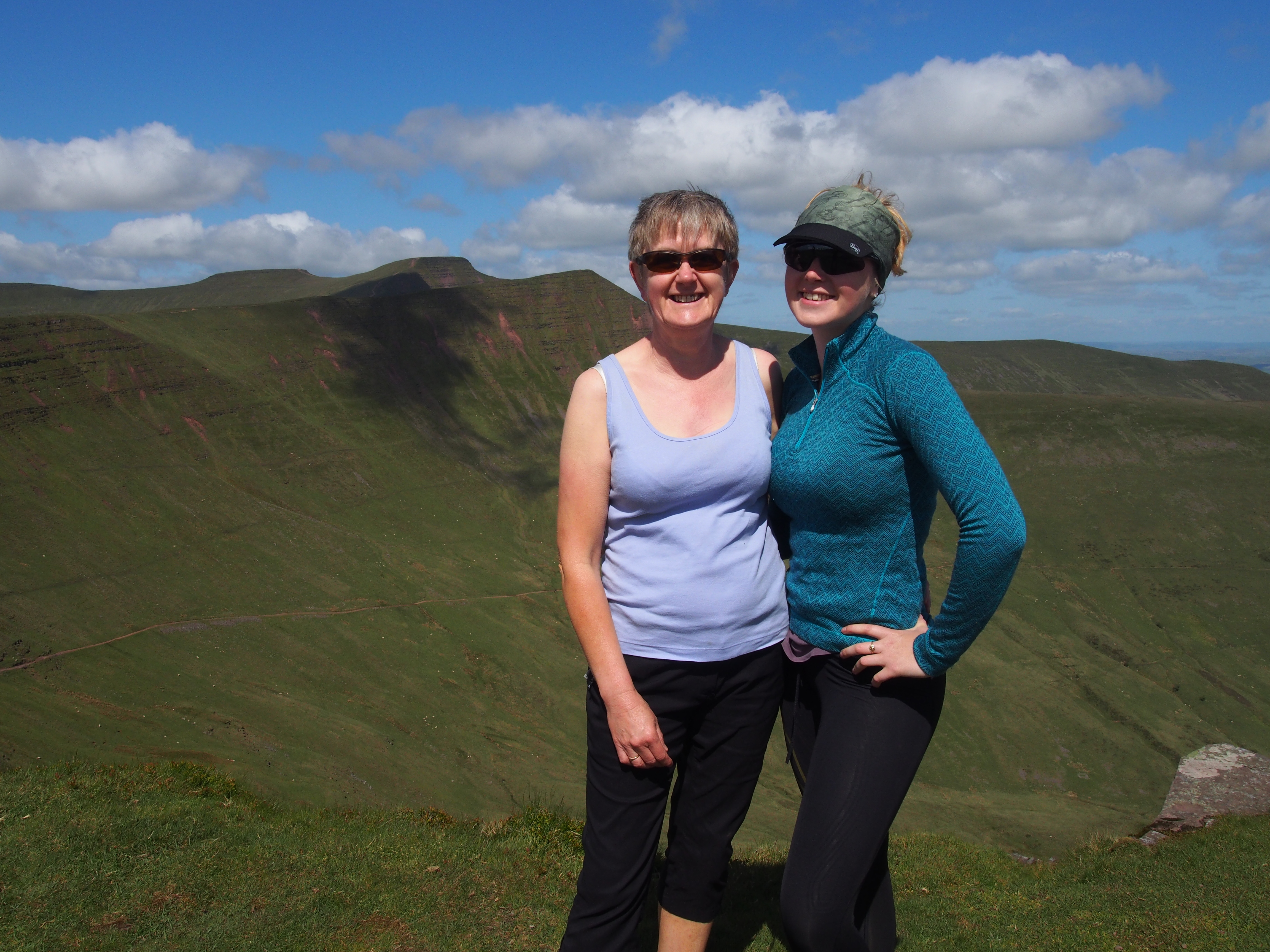 On Fan Y Big with Corn Du, Pen Y Fan and Cribyn in the background