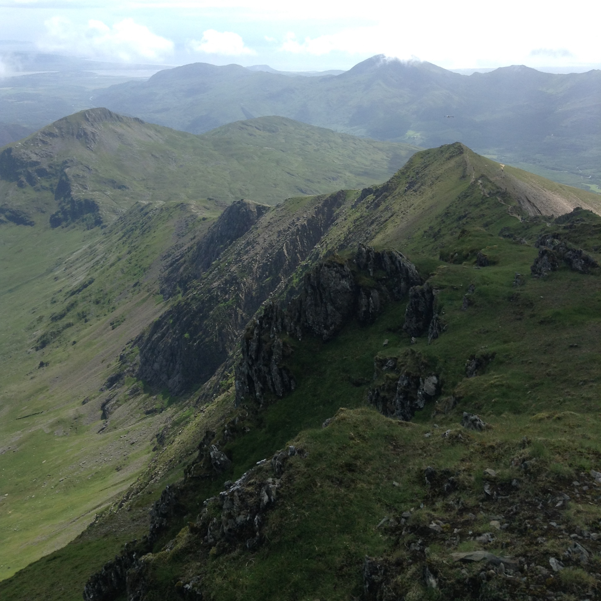 Snowdon's such ridge - one of the best routes!