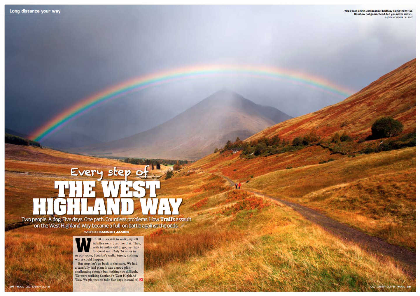 The West Highland Way || Trail Magazine || September 2015 || Toughest walk of my life