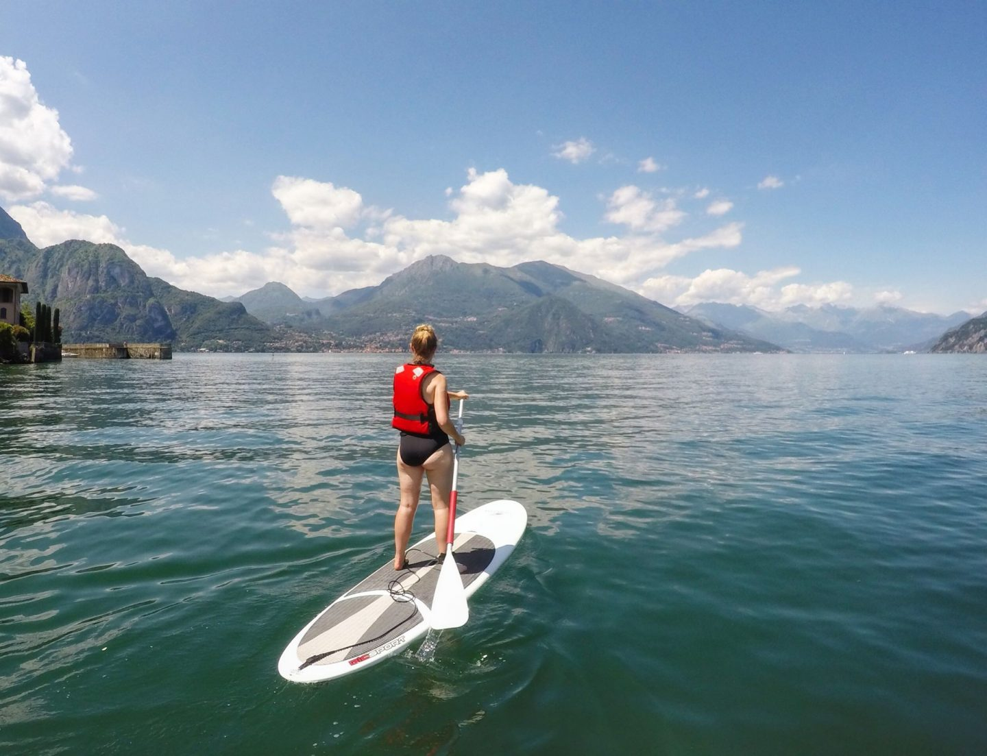 Paddle boarding in Bellagio