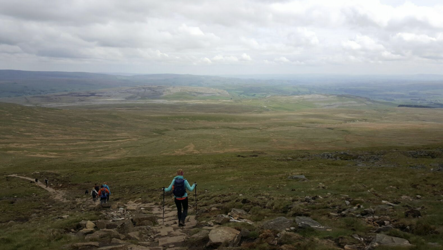Descending Ingleborough