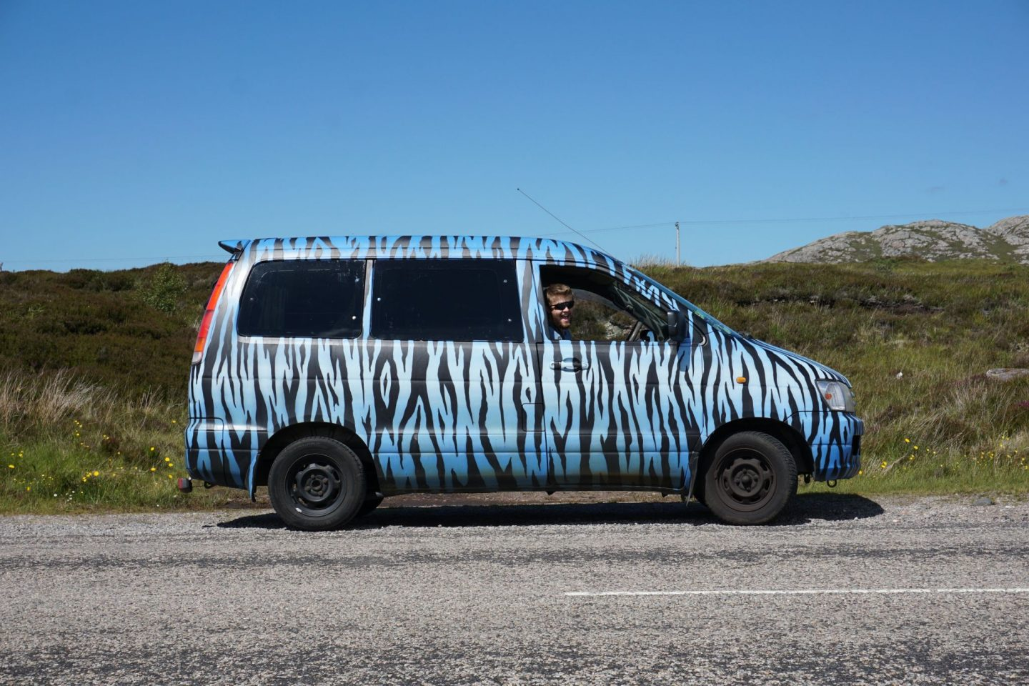 zebra print van in Scotland