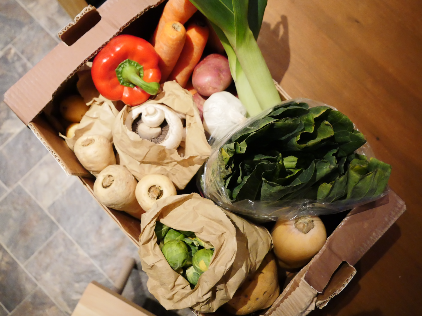 Our veg box