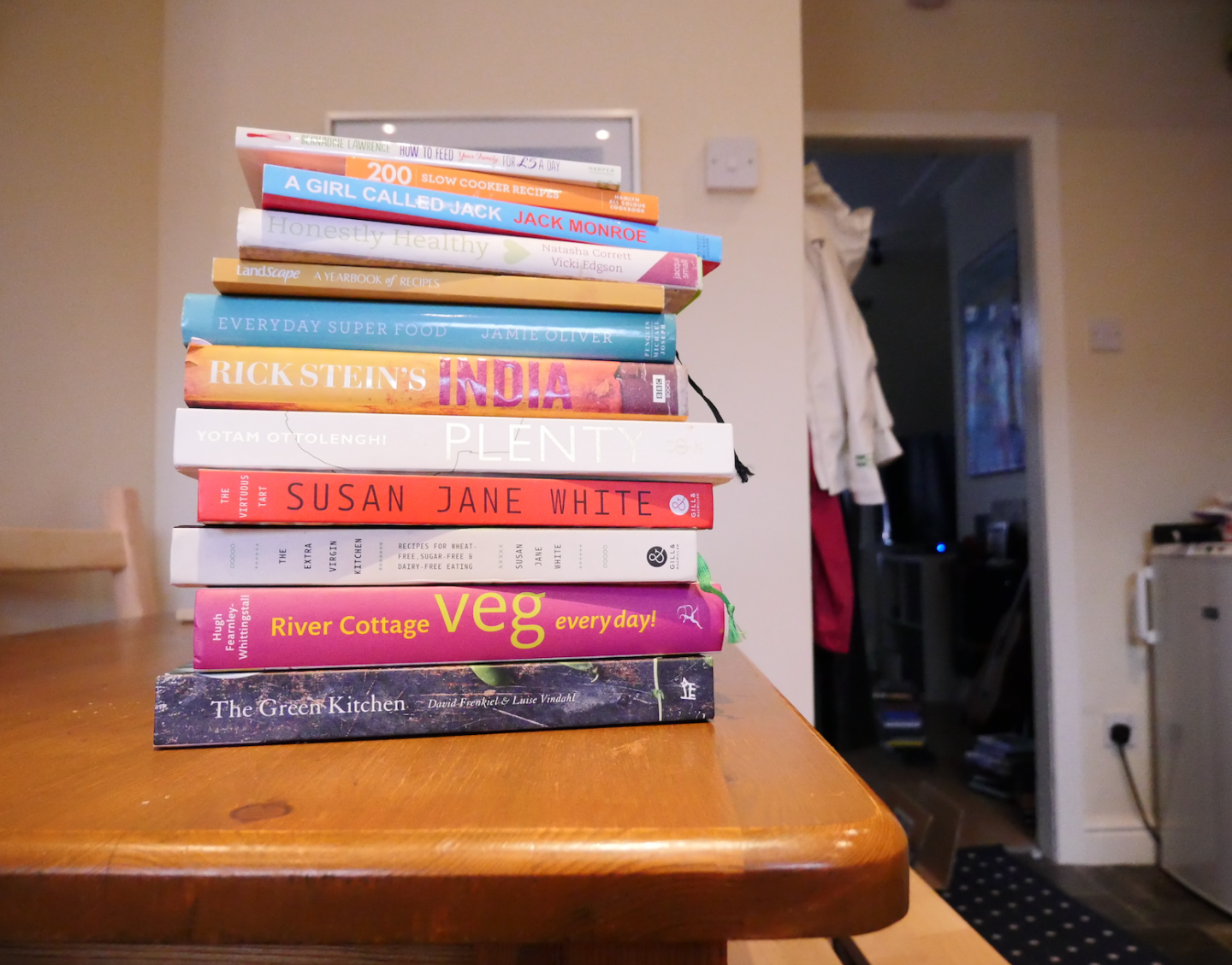 mission declutter: cookbooks to go