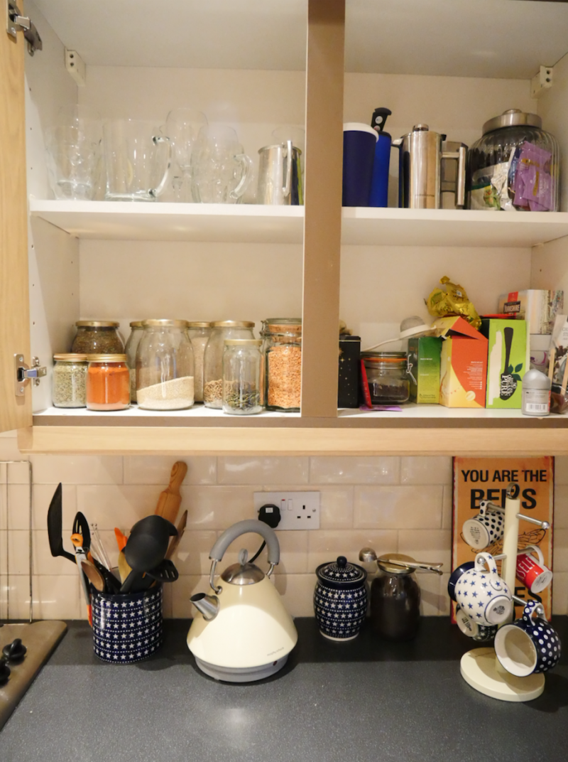 Re-organising kitchen cupboards