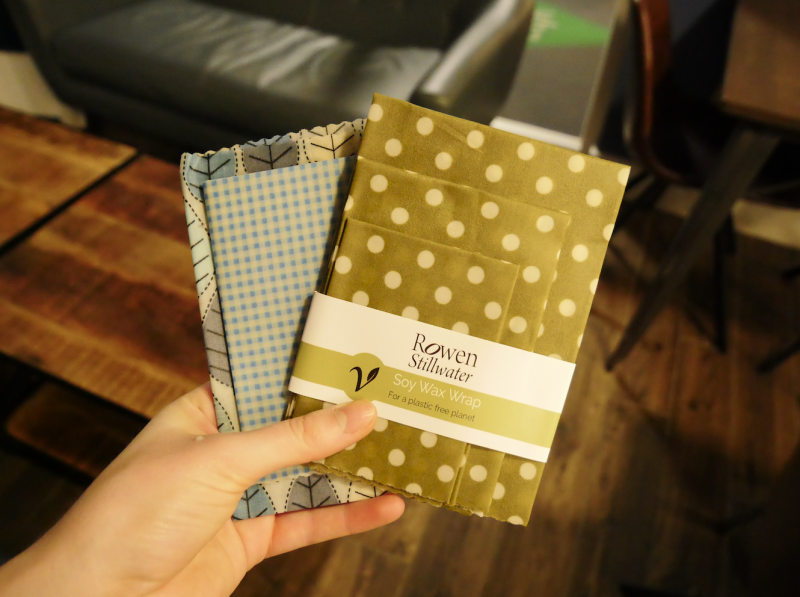 reusable wax wraps in place of foil or plastic bags
