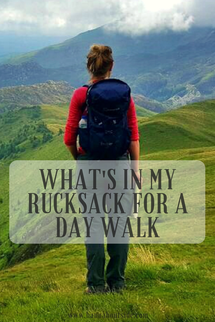 What's in my rucksack for a day walk www.hannahoutside.com