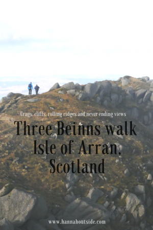 Walking on Arran the three beings walk scotland