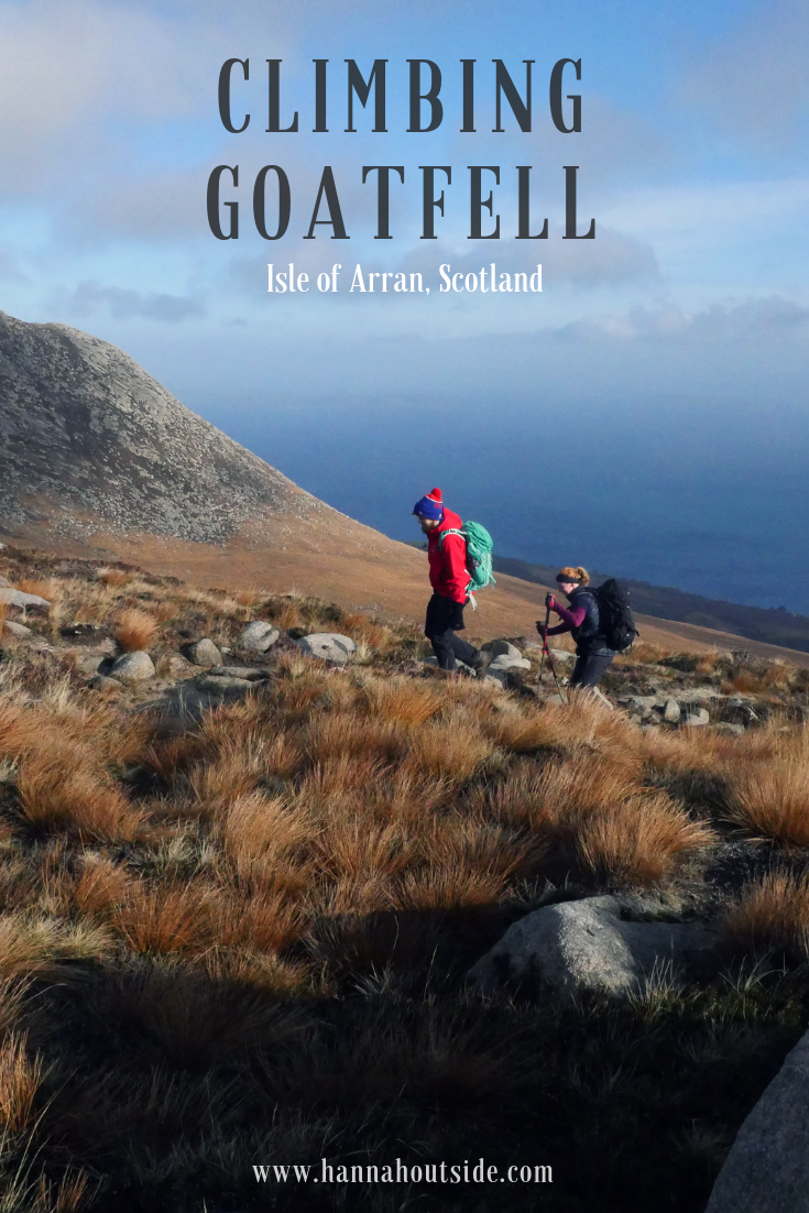 Read about climbing Goatfell on the Isle of Arran in Scotland
