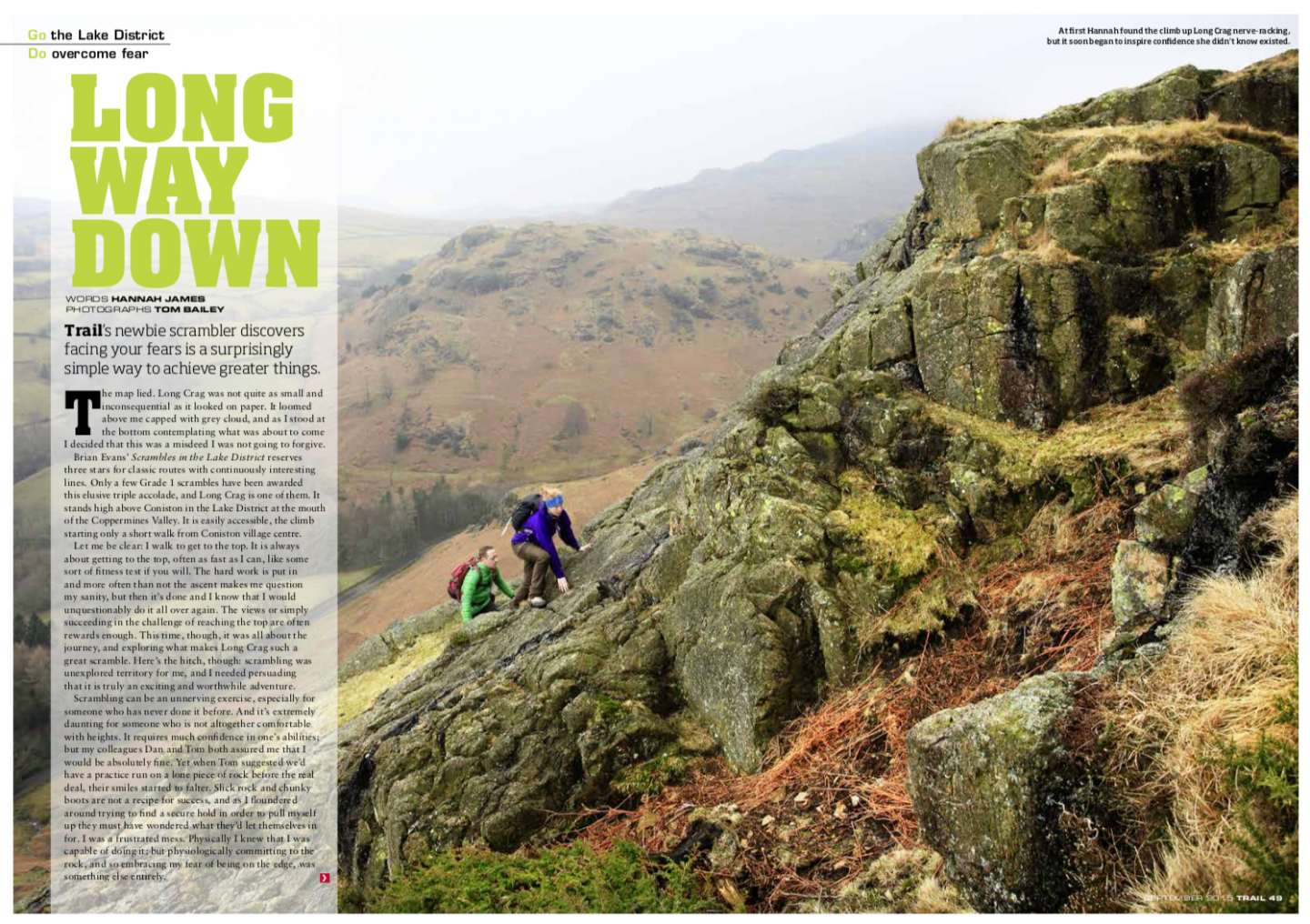 Long way down | Long Crag | Trail magazine