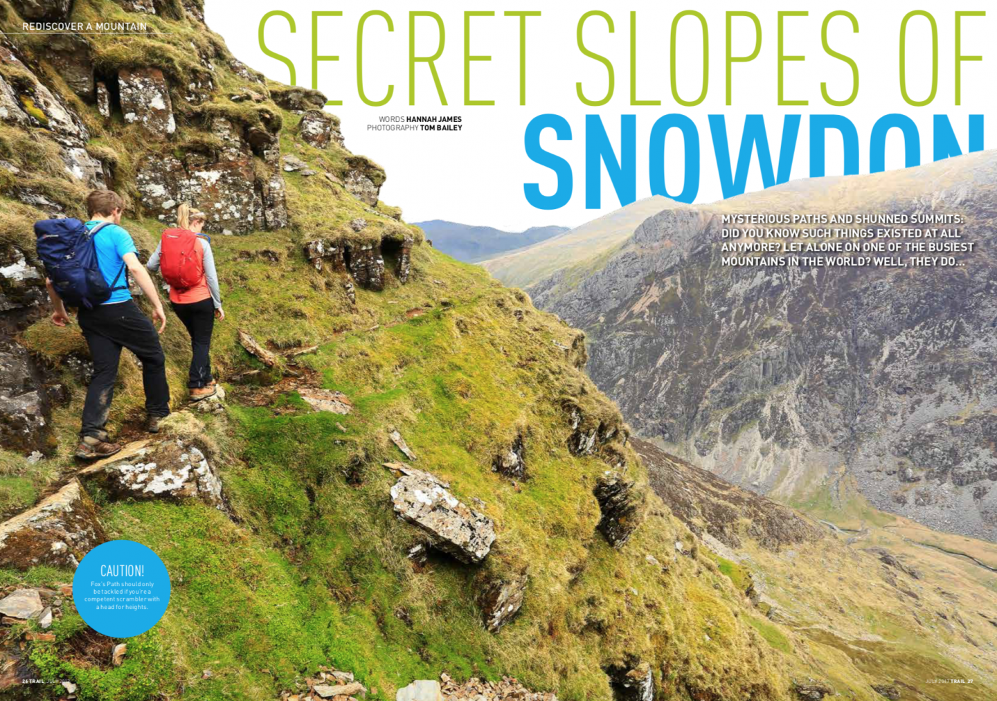 The Secret Slopes of Snowdon by Hannah James, Trail magazine