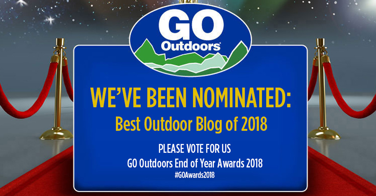 Please vote! GoOutdoors blog awards
